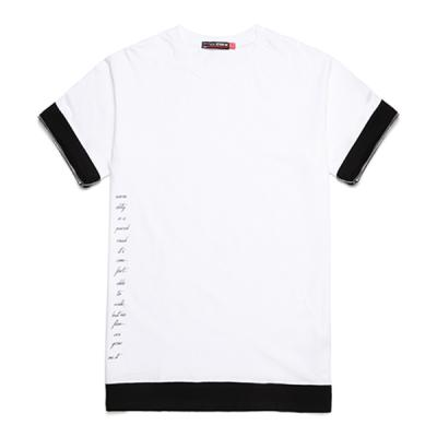 [라지크]SIDE LETTERING layered T-Shirt (WHITE)