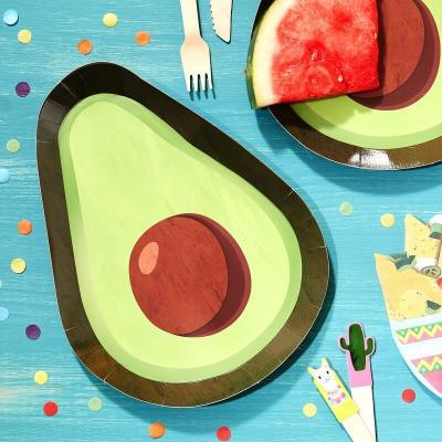 아보카도 종이접시 8개 Avocado Paper Plates GR