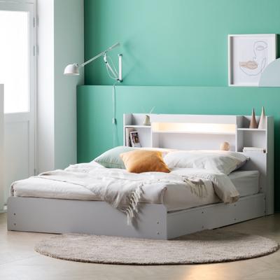 아르메 레이첼 LED 평상형 침대 Q_밸런스7존독립매트