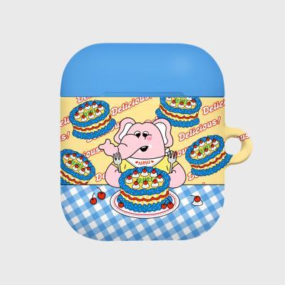 kkikki cherry cake-yellow/blue(Hard air pods)