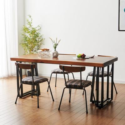 코디 1800x600 우드슬랩 식탁 6인용 테이블