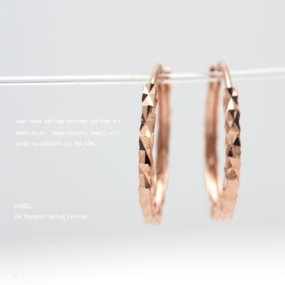 [이자벨미뇽] 14K 카빙 귀걸이 EK20061