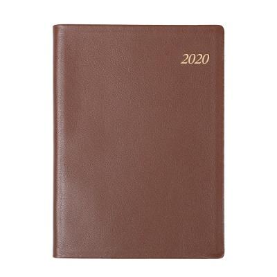 2020년 포켓다이어리 세미 천연 S다크브라운 데일리 [O1986]