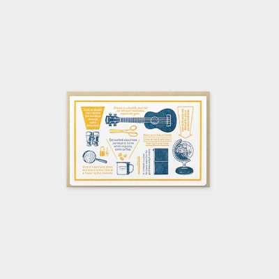 [Travel Tools Collection]LetterpressCard Blue