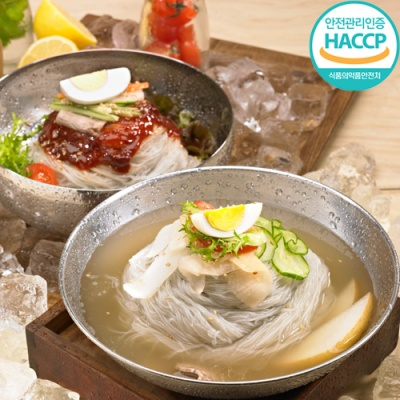 [명家] 메밀냉면 사골육수(5인분)+비빔냉면(5인분)