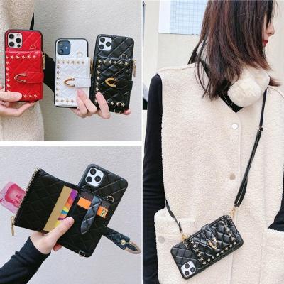 아이폰12 미니 11 pro max 가죽 지갑 스트랩 폰케이스