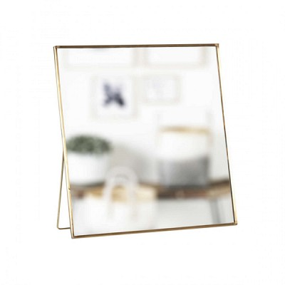[Hubsch]Table mirror w/foot, brass/glass, large 409093 거울