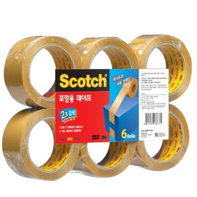 스카치 포장용 테이프 3615-6 갈색 147301