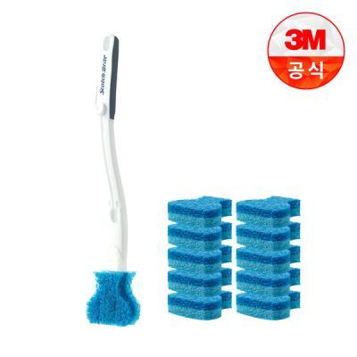 [3M]크린스틱 더블액션 변기청소 핸들+리필11입