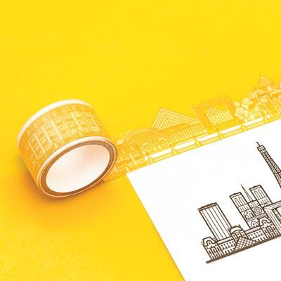 [럭키스] 시티 투명 데코 디자인 테이프 파리
