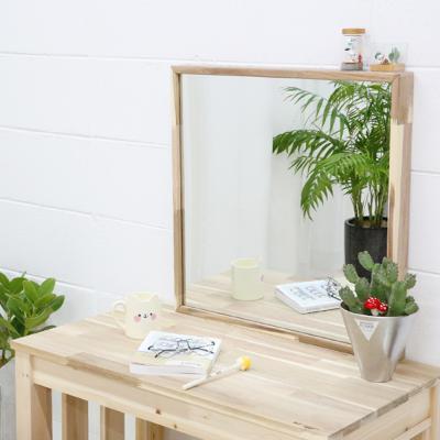 사각형 아카시아 원목 거울(일반형) 벽거울 인테리어 욕실