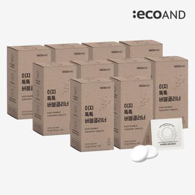 [에코앤드]이지톡톡버블클리너 1종세척제10Box(140포)