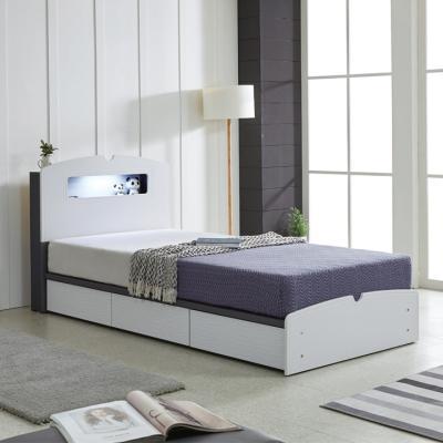 리트로 통서랍 LED SS 침대(매트리스포함)