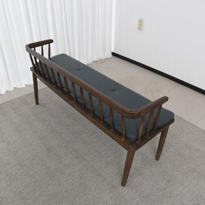 벨루 고무나무 원목 식탁 벤치의자 2인