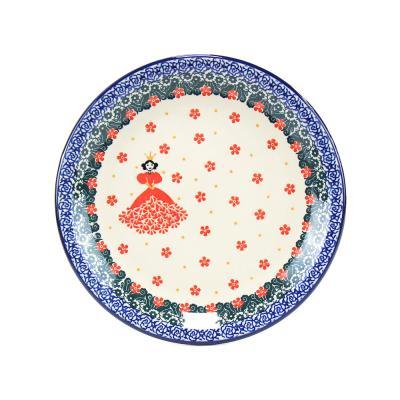 폴란드그릇 아티스티나 원형 접시 21cm 패턴2522