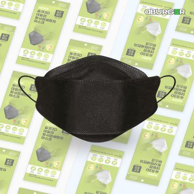 디버거 국내제조 KF-80 숨코마스크 1매 블랙