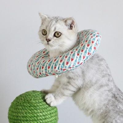 [갓샵 푹신100% 펫 쿠션넥카라 ] 강아지넥카라 고양이넥카라 강아지목카라