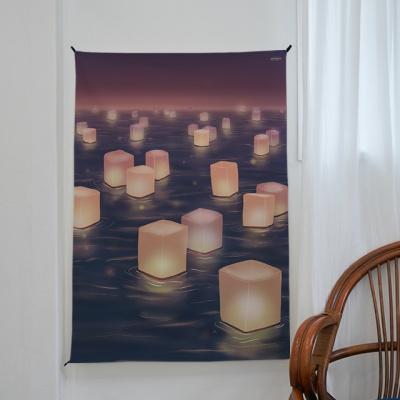 풍등 일러스트 포스터 / 가리개 커튼