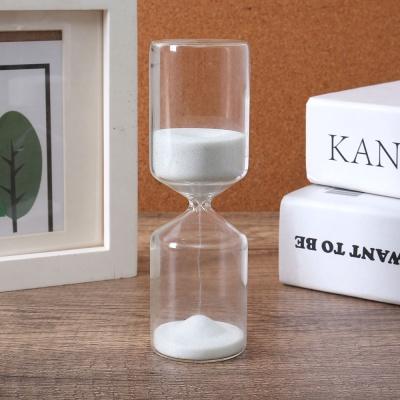 유리 인테리어 모래시계(15분) (화이트)