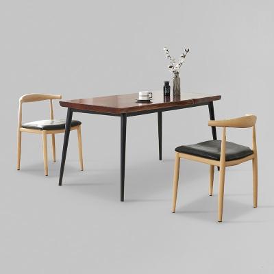 가벤 원목 철제 식탁 세트B 1400 + 의자 4개포함 (착