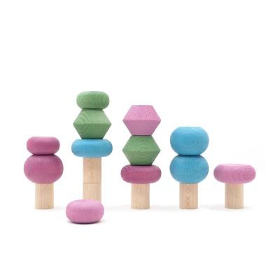 루부로나 루부타운 스태킹 트리 세트 원목 장난감 봄