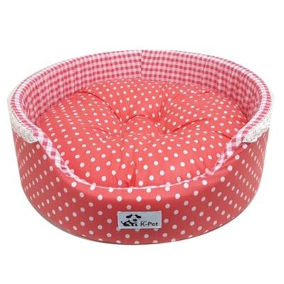 대진 버블 원방석(핑크) 강아지 애견 집 하우스 쿠션