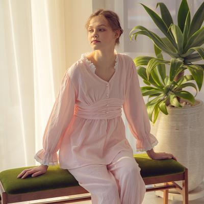 Angel 허리 주름 홈웨어 투피스 잠옷