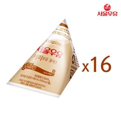 [서울우유] 삼각커피우유 200ml x 16