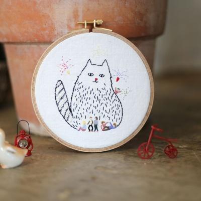걸리버 고양이 자수액자 DIY KIT