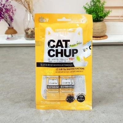애완 캣찹4p 닭 유산균소화 애묘 고양이 반려 간식