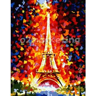 DIY 명화그리기 - DIY  에펠탑 (G186) 40x50 그림 (유화/그림그리기/직접그리기/아크릴/취미/색칠)