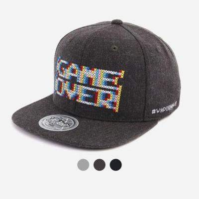 [디꾸보]레인보우 레터링 자수 스냅백 모자 ALL49