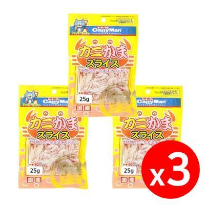 캐티맨 게살 슬라이스 25g X 3개 고양이간식