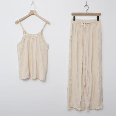 [Set] Winkle Top + Wide Pants