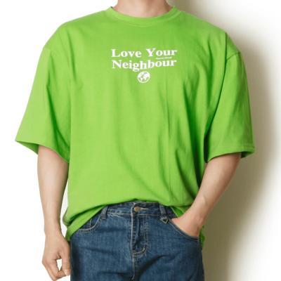 남성 여름 데일리 반팔 티셔츠 오버사이즈 핏티