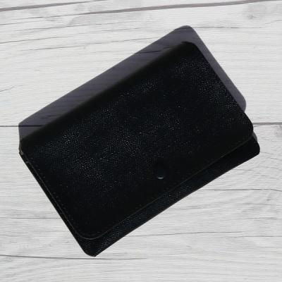 전자파차단 원단의 파우치 Type..웍스 여권지갑-블랙 No.8830 HA223-3