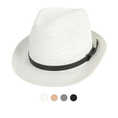 [디꾸보]벨티드 배색 라인 페도라 모자 JA924