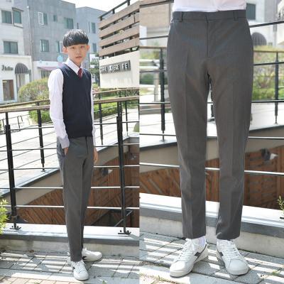 [빅사이즈] 스판 그레이 교복바지(남자) ~6XL
