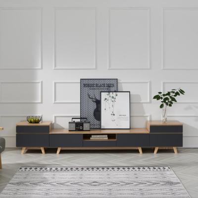 에버 1500 무늬목 거실장 풀세트