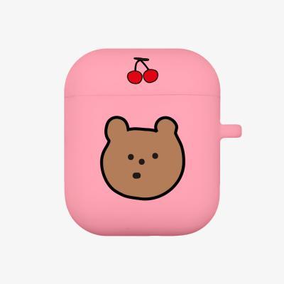 line cherry gummy 에어팟 케이스 [pink]