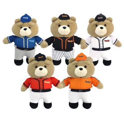 정품 19곰 테드2 베이스볼 야구 스탠딩 봉제인형 35cm