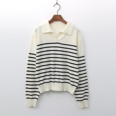 Elle Stripe Collar Knit