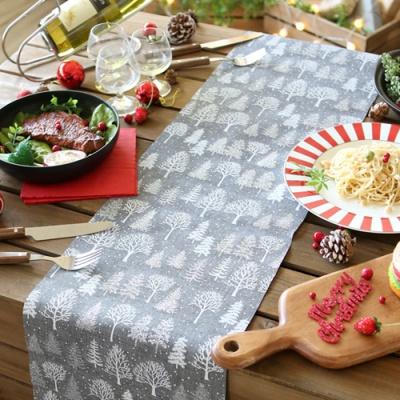 크리스마스 테이블 러너 (자작나무) 그레이