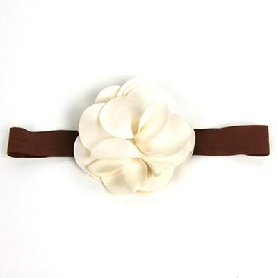[헤어보우]Lovely Flower 베이비밴드-Ivory