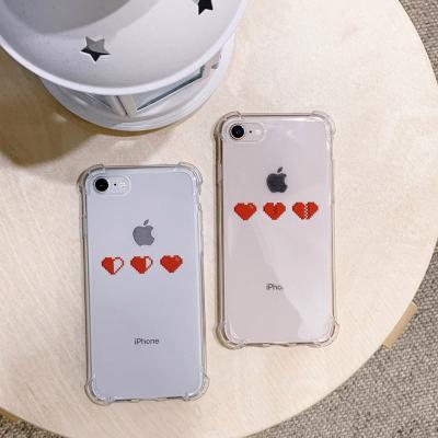 아이폰XS MAX Pixel heart 방탄케이스