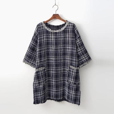 Tweed Wool Mini Dress