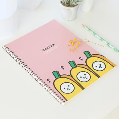 포포팬시 바나나 연습장 핑크