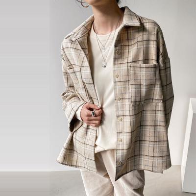 Wool Check Boy Shirts