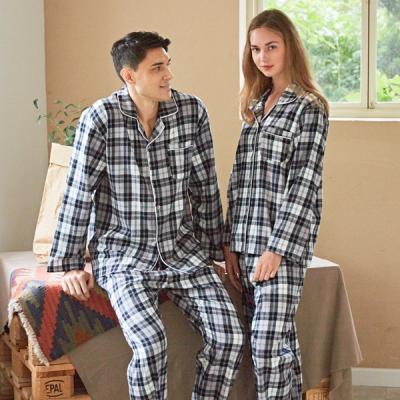 페리힐즈 커플잠옷세트 선염체크 기모 순면 잠옷(7027