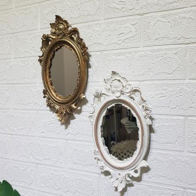 로렌 엔틱 골드 벽거울 (소)